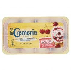 LA CREMERIA-MOTTA LA CREMERIA Spagnola Gelato alla Panna variegato Amarena con Latte Fresco Vaschetta 500g