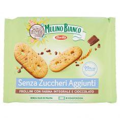 MULINO BIANCO-Mulino Verde Senza Zuccheri Aggiunti Frollini con Farina Integrale e Cioccolato 200 g