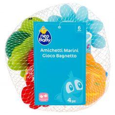 neo Baby Amichetti Marini Gioco Bagnetto 6m+ 4 pz