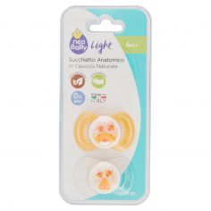neo Baby Light Succhietto Anatomico in Caucciù Naturale 6m+ 2 pz