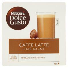 DOLCE GUSTO-NESCAFÉ DOLCE GUSTO CAFFELATTE caffè con latte 16 capsule (16 tazze)