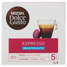 DOLCE GUSTO-NESCAFÉ DOLCE GUSTO ESPRESSO DECAFFEINATO caffè espresso decaffeinato 16 capsule (16 tazze)