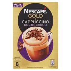 NESCAFE'-NESCAFÉ GOLD CAPPUCCINO DOUBLE CHOCO Preparato solubile per cappuccino astuccio 8 bustine 148g