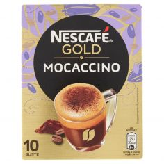 NESCAFE'-NESCAFÉ GOLD MOCACCINO preparato solubile per caffè al cacao astuccio 10 bustine 88g