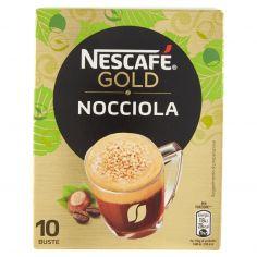 NESCAFE'-NESCAFÉ GOLD NOCCIOLA preparato solubile per caffè alla nocciola astuccio 10 bustine 80g