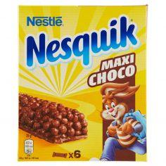 NESQUIK-NESQUIK MAXICHOCO Barretta di cereali integrali al cioccolato 6 pezzi