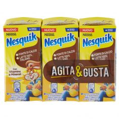 NESQUIK-NESQUIK PRONTO DA BERE Bevanda a base di latte e cacao solubile 3 brick da 180ml