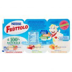FRUTTOLO-NESTLÉ FRUTTOLO Fragola e Banana, Mela e Pera, Pesca e Albicocca 6 x 50 g