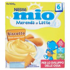 MIO-NESTLÉ MIO Merenda al Latte Biscotto da 6 mesi 4 vasetti plastica 100g