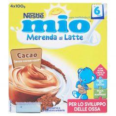 MIO-NESTLÉ MIO Merenda al Latte Cacao da 8 mesi 4 vasetti plastica 100g
