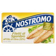 NOSTROMO-Nostromo Filetti di Sgombro all'Olio di Oliva (32%) 120 g