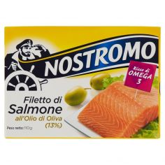 NOSTROMO-Nostromo Filetto di Salmone all'Olio di Oliva (13%) 110 g