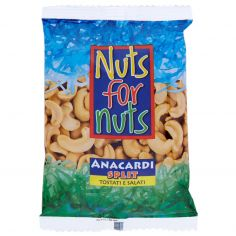 NUTS FOR NUTS-Nuts for Nuts Anacardi Split Tostati e Salati 125 g