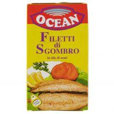 OCEAN-Ocean Filetti di sgombro in olio di semi 125 g