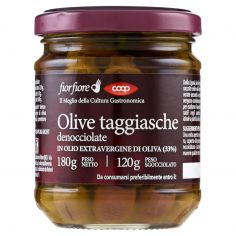 Coop-Olive taggiasche denocciolate in Olio Extravergine di Oliva (33%) 180 g