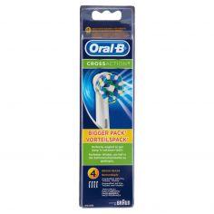 ORAL B-Oral-B Cross Action Testine di Ricambio per Spazzolino Elettrico Ricaricabile - 4 Refills