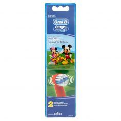 ORAL B-Oral-B Stages Power Testine di Ricambio Spazzolino Elettrico Ricaricabile Bambini Disney - 2 Refills