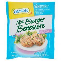 IL BENESSERE-Orogel Il Benessere Mini Burger Benessere con Quinoa e Semi di Lino Surgelati 6 x 40 g