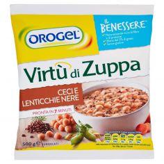 IL BENESSERE-Orogel Il Benessere Virtù di Zuppa Ceci e Lenticchie Nere Surgelati 500 g