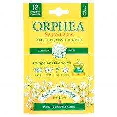 ORPHEA-Orphea Salvalana Foglietti per Cassetti e Armadi al Profumo di Fiori 12 pz