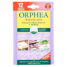 ORPHEA-Orphea Salvalana Foglietti per Cassetti e Armadi al Profumo di Lavanda Maillette 12 pz