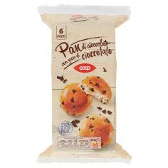 Coop-Pan di cioccolato con gocce di cioccolato 6 Pezzi 252 g