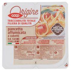 Coop-pancetta affumicata a cubetti da Suini Italiani 2 x 100 g