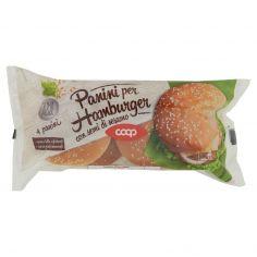 Coop-Panini per Hamburger con semi di sesamo 4 x 75 g