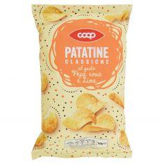Coop-Patatine Classiche al gusto Pepe rosa e Lime 150 g