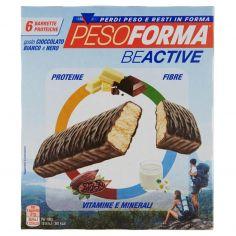 PESOFORMA-Pesoforma Beactive gusto Cioccolato Bianco e Nero 6 x 31 g