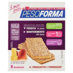 PESOFORMA-Pesoforma il mio pasto 8 Sandwich al Prosciutto e Formaggio** 8 x 25 g