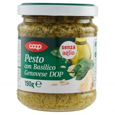 Coop-Pesto con Basilico Genovese DOP senza aglio 190 g