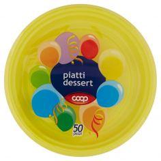 Coop-piatti dessert gialli 50 pz