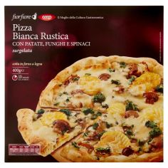Coop-Pizza Bianca Rustica con Patate, Funghi e Spinaci surgelata 400 g