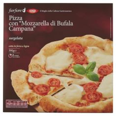 """Coop-Pizza con """"Mozzarella di Bufala Campana"""" surgelata 390 g"""