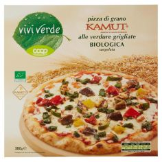 Coop-pizza di grano Kamut alle verdure grigliate Biologica surgelata 380 g