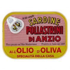 POLLASTRINI-Pollastrini di Anzio Sardine all'Olio d'Oliva 100 g