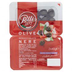 POLLI-Polli Olive Denocciolate Nere 2 x 40 g