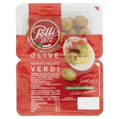POLLI-Polli Olive Denocciolate Verdi 2 x 40 g