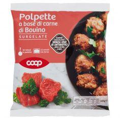 Coop-Polpette a base di carne di Bovino Surgelate 400 g