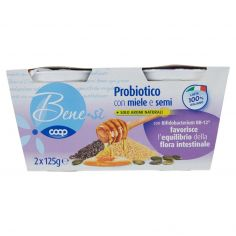 Coop-Probiotico con miele e semi 2 x 125 g