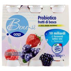Coop-Probiotico frutti di bosco 6 x 100 g