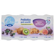 Coop-Probiotico gusti assortiti con mirtilli/con kiwi e cereali/con avena e noci/con fico e semi 8 x 125g