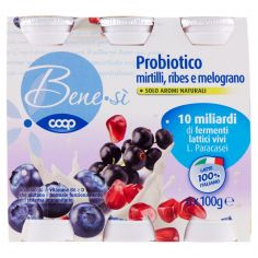 Coop-Probiotico mirtilli, ribes e melograno 6 x 100 g