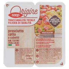 Coop-prosciutto cotto a cubetti da Suini Italiani 2 x 100 g
