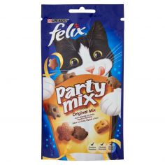 PARTY MIX-PURINA FELIX Party Mix Snack Gatto Original mix al gusto di pollo, fegato e tacchino busta 60 g