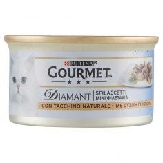 DIAMANT-PURINA GOURMET Diamant Gatto Sfilaccetti con Tacchino Naturale lattina 85g