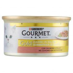GOLD-PURINA GOURMET Gold Gatto Dadini in salsa con Salmone e Pollo lattina 85g