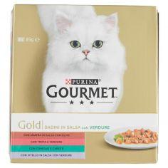 GOLD-PURINA GOURMET Gold Gatto Dadini in salsa con Verdure lattina 8x85g