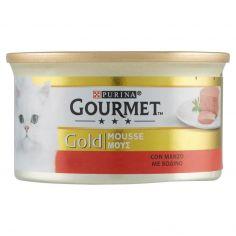 GOLD-PURINA GOURMET Gold Gatto Mousse con Manzo lattina 85g